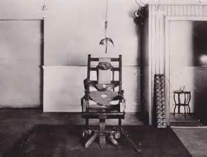 The original and first electric chair that was used to execute a