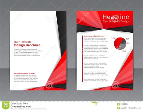 vector design of the red and black flyer cover brochure