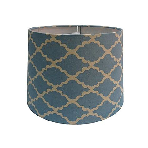 9 inch l shade buy 9 inch linen lattice patterned hardback drum l