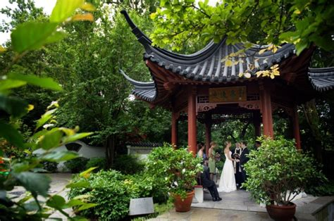 Beautiful Small Wedding In The Chinese Garden At The Mizzou Botanic Garden