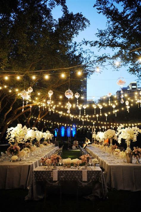 Outdoor Hanging Lighting Ideas Home Design Inside Backyard Wedding Reception Decoration Ideas