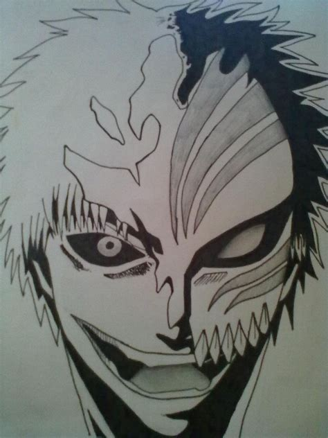 bleach tattoo designs easy drawings ichigo hollow mask by