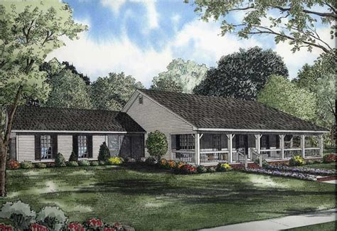 Large Country House Plans by Large Images For House Plan 153 1744