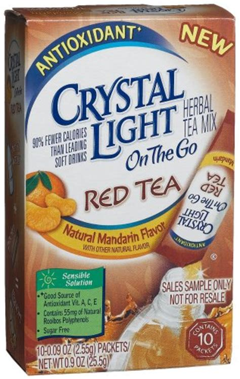 crystal light water flavor packets tea packet crystal light on the go red tea natural