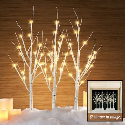 led lighted birch branches led lighted birch branches with stand from collections etc
