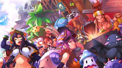 wallpaper game anime heva clonia online mmo fantasy game heva clonia online