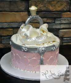 bridal shower cake open ring box themed cake a cake