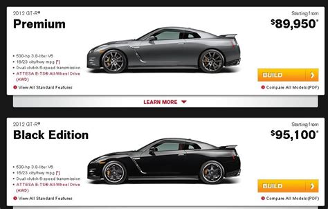 nissan website nissan gt r black edition now available on nissan usa