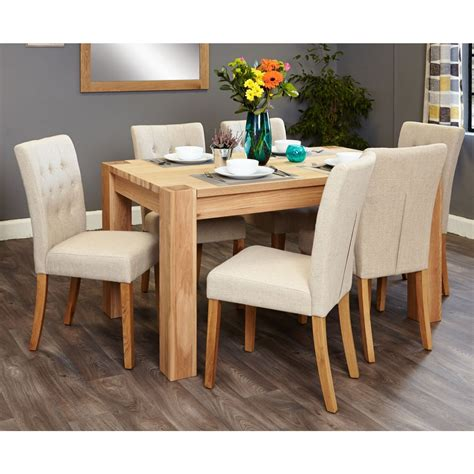 Medium Oak Dining Table And Chairs Salisbury Oak Furniture Medium Dining Table And Six Biscuit Chairs Set Ebay
