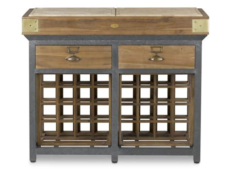 kitchen islands with wine racks chef s kitchen island with drawers williams sonoma