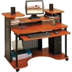 Two Level Desk Sauder Saturn Multi Level Computer Workstation Black And
