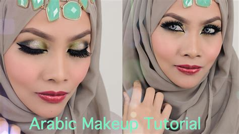 tutorial make up yatie sendayu tinggi arabic inspired smokey green eyeshadow sendayu tinggi