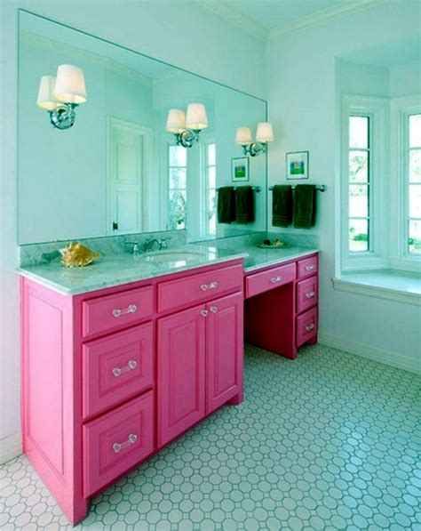 teal and pink bathroom in color bathed elegant ideas for pink bathroom designs