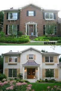 exterior house colors with brick 20 home exterior makeover before and after ideas home