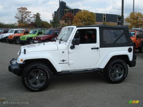 white jeep with teal accents 2012 bright white jeep wrangler oscar mike freedom edition