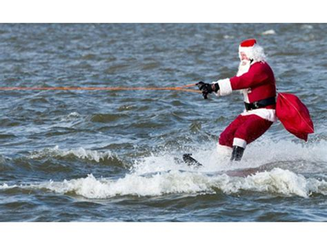 1 year water skiing water skiing santa returns to alexandria on