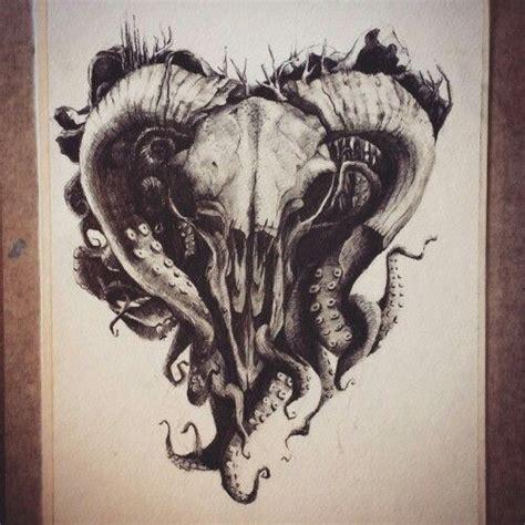skull octopus tattoo skull ram and octopus drawing tattoos
