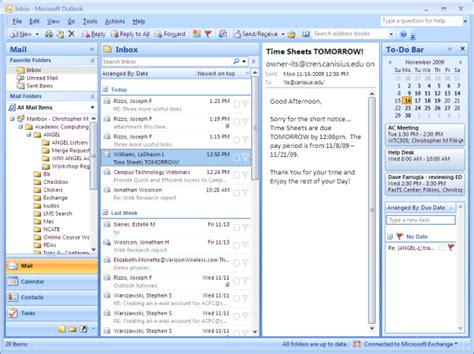 web layout view office 2007 changing the layout outlook 2007 microsoft outlook