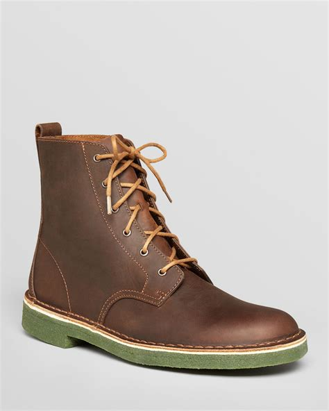 boots for clarks desert mali leather boots in brown for lyst