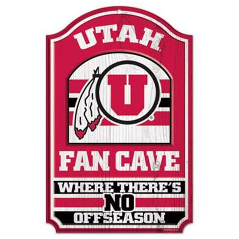 of utah fan store utah utes fan cave wood sign