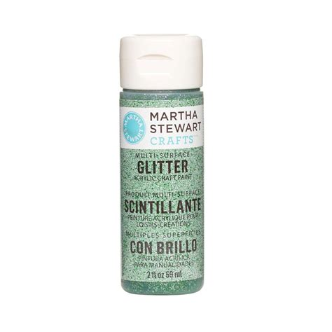 martha stewart crafts 2 oz verdelite multi surface glitter acrylic craft paint 32159 the home