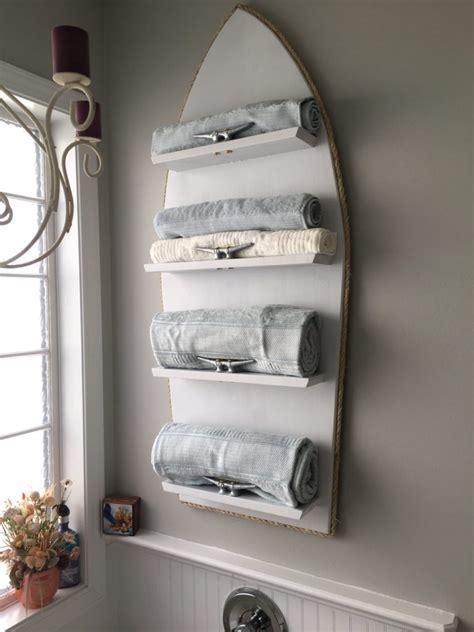 nautical towel rack ideas