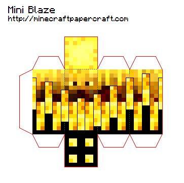 Minecraft Papercraft Blaze - image mini blaze png minecraft papercraft wiki