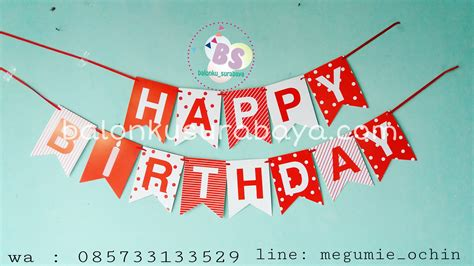 Tulisan Happy Birthday Princess Flag Banner Ulang Tahun Anak Kartun bendera ulang tahun bunting flag happy birthday flag