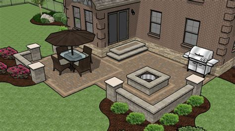 Patio Layout Ideas Patio Designs Pavers Grass Landscaping Gardening Ideas