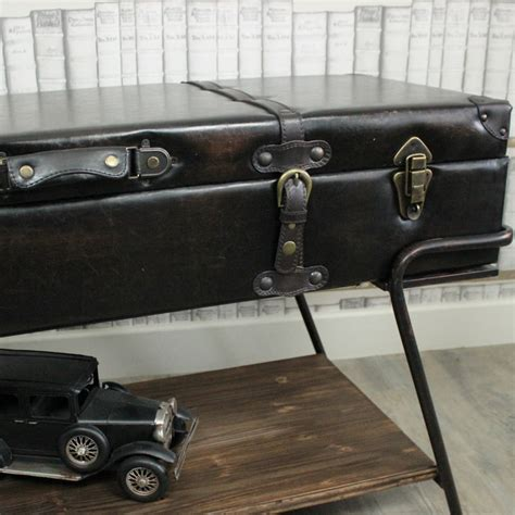 faux leather coffee table faux leather trunk on a stand coffee table melody maison 174