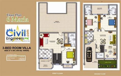 3 Marla House Design Story 6 Marla House Plans Civil Engineers Pk