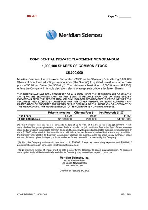 placement memorandum template 100 ppm template ppm templates for reg d 506docs 40