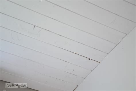 Pine Plank Ceiling by How To Plank A Bathroom Ceilingfunky Junk Interiors