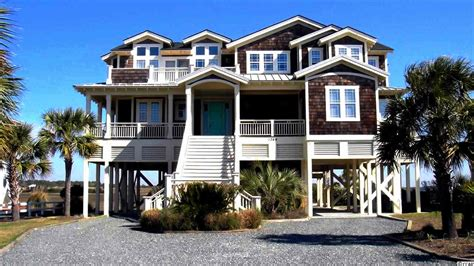 Oceanfront Beach House Rentals In Myrtle Beach Sc House House Rentals In Sc