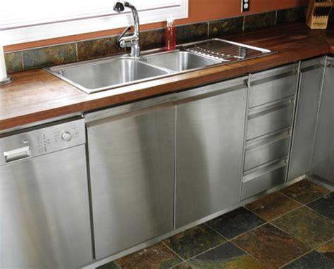 kitchen cabinets stainless steel butcher block top on stainless steel cabinets