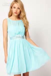 Blue noble scoop neck convertible bridesmaid dresses gown 2014