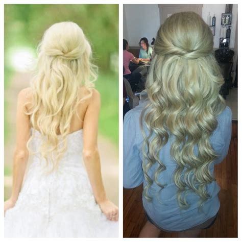 bridal hair long hair extensions blonde christina