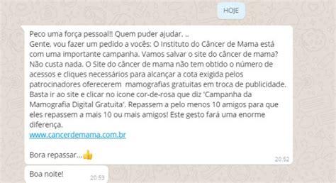circula falsa imagen que da por viva a jenni canha falsa sobre site de c 226 ncer de mama circula na internet