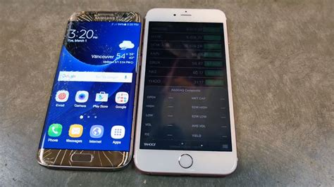 samsung galaxy  edge drop test  iphone