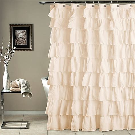 ruffle shower curtains ruffle shower curtain bed bath beyond