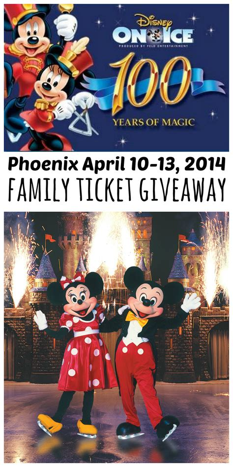 Disney On Ice Ticket Giveaway - disney on ice 100 years of magic comes to phoenix april 10 13 2014 ticket giveaway