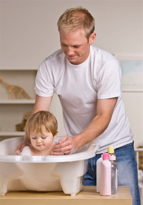dad in bathroom children s bath safety freestyle