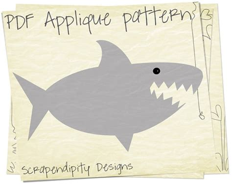 baby shark template shark applique template baby quilt applique pattern