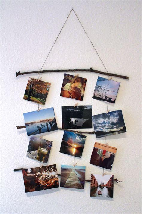 Wanddeko Mit Fotos by Astreine Idee Coole Diy Foto Deko Aus Der Natur