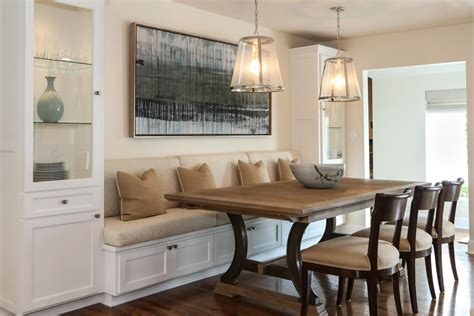 built in banquette dining in comfort with kitchen banquettes
