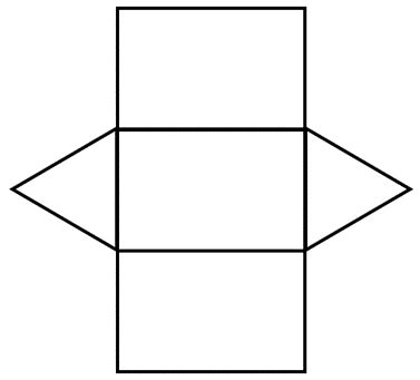 net pattern for square prism geometry nets information page