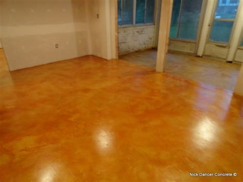 Polished Stained Concrete Floors by Stained And Polished Concrete Floors Basement Remodel