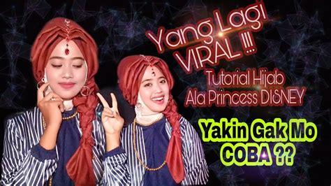 tutorial hijab pengantin ala princess disney viral