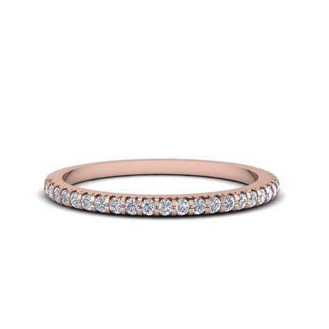 thin  diamond band   rose gold fascinating