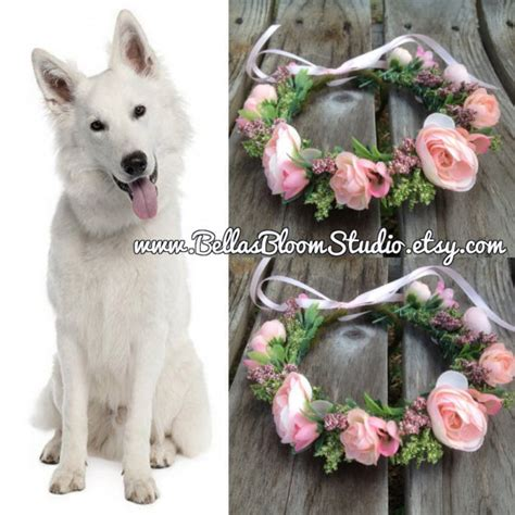 Wedding Attire For Dogs by Of Honor Wedding Collar Pet Wedding Attire Flower